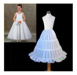 Wholesale Crochet Dresses For Children - 2017 New Children Petticoat Dress A-line 3 Hoops Bridal Crinoline Underskirt Wedding Accessories For Flower Girl Dress