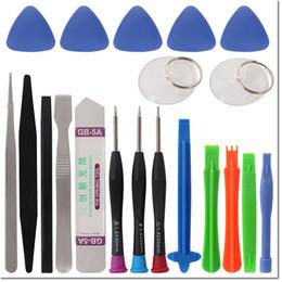 Spudger pry kit online-20 in 1 Handy Reparatur Werkzeuge Kit Spudger Pry Öffnungswerkzeug Schraubendreher Set für iPhone iPad Samsung Handy Handwerkzeuge Set