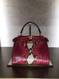 Wholesale Genuine Python Leather - The New Peekaboo mini Fashion python skin ladies handbag shoulder bag