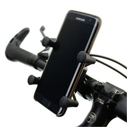 Wholesale bicycle mount clamp - New Adjustable Universal Rotating 360 Degrees X-Grip Clamp Mount Bike Bicycle Phone Holder Stand For CellPhone