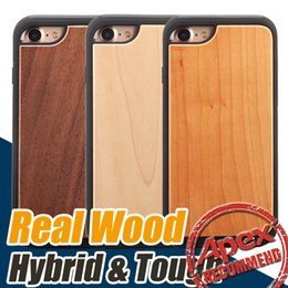 Wholesale Iphone Wood Plastic Case - High Quality Real Wood hybrid 2 in 1 protective back cover cases Cell Phone case for iphone 7 iPhone 6 6s plus
