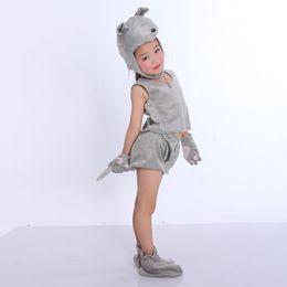 2019 décorations de porte du nouvel an chinois UnisexKids Belle Partie drôle Danse Performance Cosplay Costume Fantaisie Animal Dress Up Tail Hat Outfit Suit Multiple Style En Option