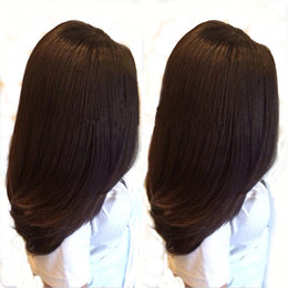 Wholesale Wig Long Straight Hair 34 - Long italian yaki Straight hair Lace front wig glueless heat resistant synthetic lace front wig for black women yaki straight synthetic wigs