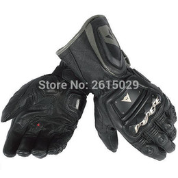 Wholesale Motorcycle Racing Glove Genuine - New arrive Titanium Carbon fiber racing gloves motorcycle Genuine Leather gloves free shipping