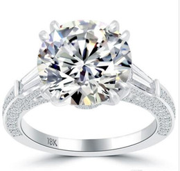 Wholesale Natural Round Certified Diamonds - 6.60 I-SI1 Certified Natural Round Diamond Engagement Ring 18k White Gold