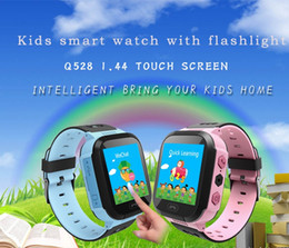 Wholesale Message Flash - Touch Screen Q528 Kids GPS Tracker Watch Kids Smart Watch SOS Call Location Finder Device Tracker Kids Flash Light Watch MOQ:10PCS