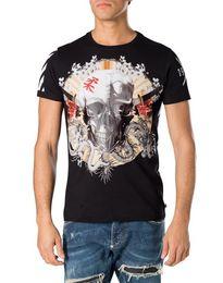 Wholesale Crystal Skulls For Sale - Hot sale Skull brand tshirts for men Summer Fashion Short Sleeve 100% Cotton poloshirt shirt men Hip pop Mens designer t shirts