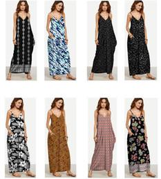 Wholesale Wholesale Sheath Dresses For Women - 2017 Fashion Casual Floral Printing Slip Dress Maxi Dresses Girls Women Sexy Dress Summer Dresses For women Beach Dress Women Clothes 638
