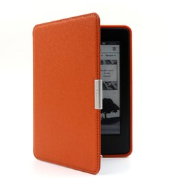 Wholesale Ebook Kindle Cover - Ebook reader covers kindle paperwhite,the thinnest and lightest PU leather case fits all paperwhite generation with Auto sleep wake