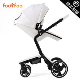 Wholesale Luxury Prams - Hot sell FOOFOO European Luxury 2 in 1 Baby Stroller Baby car High View Prams Folding Poussette Kinderwagen bebek arabas