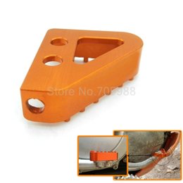 Wholesale Rear Steps - CNC motorcycle billet aluminum rear brake pedal step tips for KTM 65 85 125 150 250 350 450 SX SXF Orange