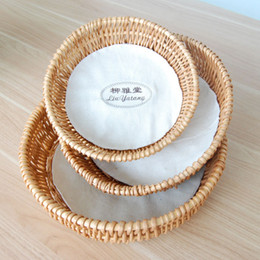 Wholesale Baskets Trays - Handle Weaving Big Size Fruit bamboo Tray Storage willow Basket hamper for bread cake plate basket gift