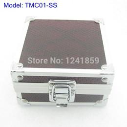 Wholesale Tattoo Machines Cases - Wholesale- Small Snake Stripe Aluminum Alloy Tattoo Machine Case Box Fo Tattoo Machine Gun Supply TMC01-SS#