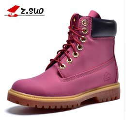 Wholesale B Z - Z. Suo women's boots, women boots new fashion retro, cool Casual autumn and winter boots Martin. botas de mujer 10061N