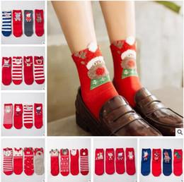 Wholesale Wholesale Cute Socks For Women - Ladies Christmas Socks For Women Teens Soft Warm FALL Winter Cute Animal Fox Snowmen Xmas Cotton Funny Socks Kids Ankle Socks Korea Sock
