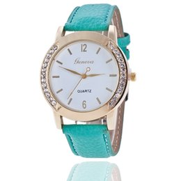 Wholesale Kinder Watch - Kind of Geneva bilateral Geneva diamond drill belt watch hot style of foreign trade English table ladies watch