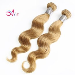 Wholesale Dye Hair Weave - Brazilian Hair Straight Or Body Wave Hair Weaves Color 27# 4# Remy Human Hair Weft