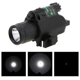2019 atrações combo Venda quente 2 em 1 Airsoft Caça M6 CREE LEVOU Tocha Tactical 200LM Laser Lanterna Combo / Luz + Mira Verde com Interruptor de Cauda desconto atrações combo