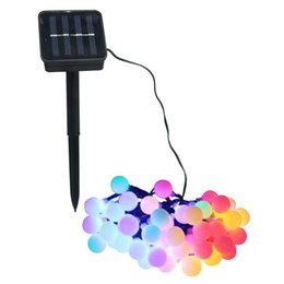 Wholesale Decorating Lights Outdoors - 7M 50LED Solar Light Series Waterproof Outdoor Decorative White Ball Fairy Light String Holiday Christmas Garden Decorated LED Lamp