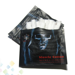 Rba authentique en Ligne-Muscle Cotton Authentic Demon Killer Muscle Cotton Fibre de coton biologique 100% sans goût Ajustement RBA RTA RDA Atomiseur DHL gratuit