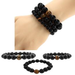 Wholesale Ceramic Bracelets For Men - Kimter Lava Rock Stone Bracelet for Men Yoga Beaded Bracelets Elastic 8MM 10MM 12MM Essential Oil Diffuser Bracelet Best Gift B340S