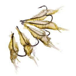 Wholesale Shrimp Baits - 5Pcs lot 4cm 2g Lifelike Fishing Lures Soft Artificial Shrimp Lure Prawn Soft Bait Leurre Souple Pesca