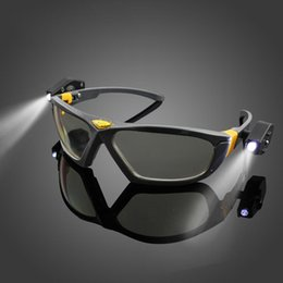 Wholesale Industrial Repairs - Bright LED Lights Safety Goggles Night Reading Eye Glasses for Safe Industrial Work Car Repair Outdoor Sports Riding Lighting