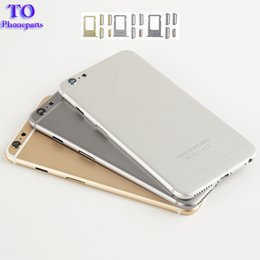 """Wholesale Button Frames - High quality Back Battery Cover Housing Middle Frame with Side Button Sim Card Tray For iphone 6 4.7"""" 6 Plus 5.5"""