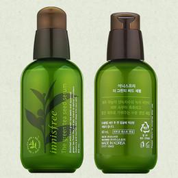 Wholesale Korea Wholesales - INNISFREE Korea Brand Green Bottle CREAM THE Green Tea Seed Serum Moisturizing Face Care Lotion 80ML New Face Skin Care Cream