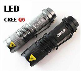 Wholesale Flash Light Cree Aa - Free Epacket,CREE XML Q5 LED Use 14500 or AA batteries Waterproof Flashlight Torch Adjustable Focus Zoom flash Light Lamp