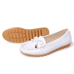 Wholesale Office Dress Pregnant - Large size flat shoes women bowtie nurse shoes casual oxfords creepers Pregnant women flats chaussures femme