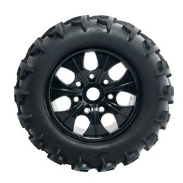 Wholesale Hsp Tires - RC HSP T810001 Rubber Black Tires with Wheel Sets 4PCS For HSP 1:8 Bigfoot Truck