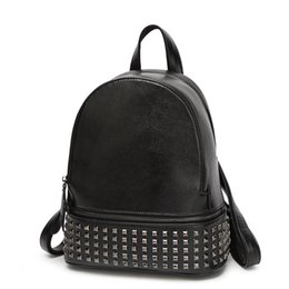 Wholesale Casual Fashion For Teenage Girls - Wholesale- Rivets Backpack Women Small Backpacks For Teenage Girls Bagpack Women's Casual Daypacks Female Backpack sac a dos femme