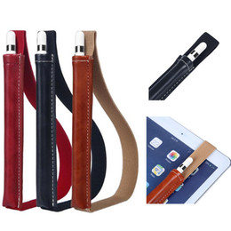 En cuir PU cas pour ipad pro tactile stylet stylo sac de protection anti-knock cas avec ceinture pour apple ipad étui à crayons ? partir de fabricateur