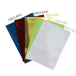 Wholesale Square Mask - Recyclable Packing Bag Heat Sealing Open Top Aluminum Foil Vacuum Package Pouch Snack Mask Flat Mylar Bags Colorful 1zf D