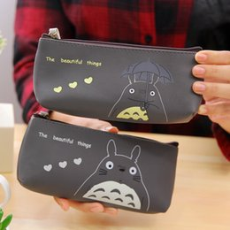 Wholesale Gift Fabric - Kawaii Fabric Pencil Case Lovely Cartoon Totoro Pen Bags Students Kids Gift School Supplies