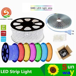 Wholesale Ip67 Led Strip 3528 - Hot sales 110V 220V LED Strips 100M Epistar SMD3528 SMD2835 SMD3014 led flexible strip with Power plug IP67 Free Shipping by Fedex