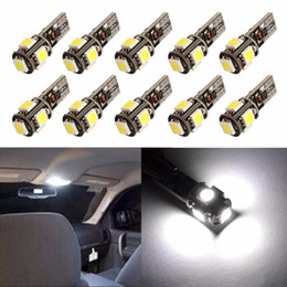 Wholesale car led fog lights - 100PCS T10 5SMD 5050 led Canbus Error Free Car Lights W5W 194 5SMD LIGHT BULBS ERROR White