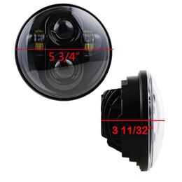 Wholesale Led Projector Headlights Motorcycle - 6X 5.75 LED Headlight High Low Beam 5 3 4' LED Headlamp Driving Light for Motorcycle Projector Daymaker Headlights