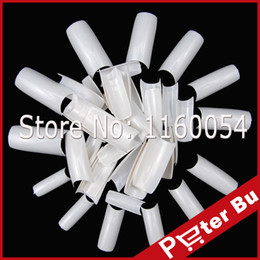 Wholesale Fake Color French Nails - Wholesale-50pc False Nail Art Tips French Acrylic Artificial Full Stiletto fake False Nail Art Decorations White Color Free Shipping