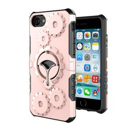 Wholesale Iphone Heavy Duty Metal Case - Multifunction Hybrid Armor Case Shockproof Heavy Duty Tough Case Ring Holder kickstand For iPhone 6 6s 7 Plus Samsung S8 S7 edge OPPBAG