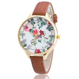 Wholesale Stainless Steel Disks - Europe and the United States sell fashionable Geneva hot style strap watch Geneva and colorful disk ms rose quartz watch