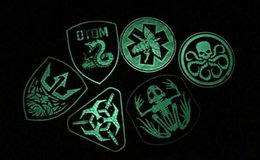 Wholesale Tad Tactical Bags - 2016 NEW PVC Tactical Patches TAD Fluorescent Patch Luminescent Armband Combat SWAT Noctilucent Hook Badge For Cap Bags VP-22 3D Rubber