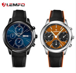 Wholesale Huawei 1gb - LEMFO LEM5 Android 5.1 MTK6580 1GB   8GB Smart Watch Phone support SIM card Wifi bluetooth Mp3 smartwatch for huawei apple phone