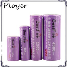 Wholesale Fire Carbon - vapes Bestfire 26650 18650 18350 14500 Best Fire Discharge 3.7v Li-ion Battery Hight Drain Rechargeable Battery 0266126-01