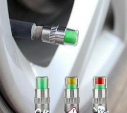 4 Pçs / set Carros Pneu Monitor de Pressão De Ar 3 Indicador de Alerta de Cor Da Tampa Da Válvula Do Pneu Calibre cheap tire pressure alert valve caps de Fornecedores de tampas de válvula de alerta de pressão de pneu
