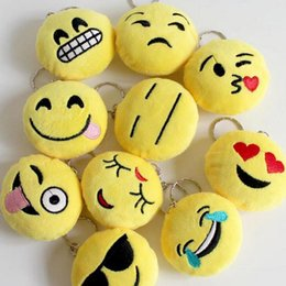 Wholesale Video Game Favors - Wedding Keychains wedding gift Lovely Emoji Smiley keychains love keychain Keychain Favors for Christmas gift 50pcs lot free shipping