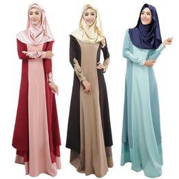 Wholesale Xl Muslim Woman Clothes - new arrival abaya turkish muslim dress women dresses islamic clothes muslim clothing long dress for women ethnic clothing D133