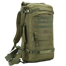 Wholesale Gourd Bags - Wholesale- LUCKY GOURD 50L army camouflage backpack Waterproof wear - resistant Oxford bucket high quality multi-function package Hand bag