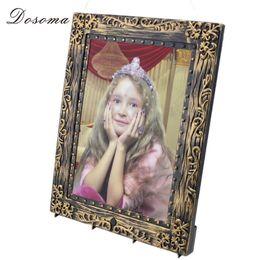 Wholesale Horror Haunted House - Wholesale-Halloween Horror Audible Voice Luminous Girl Magic Photo Frame Plastic + Electronic Components Haunted House Props Frames